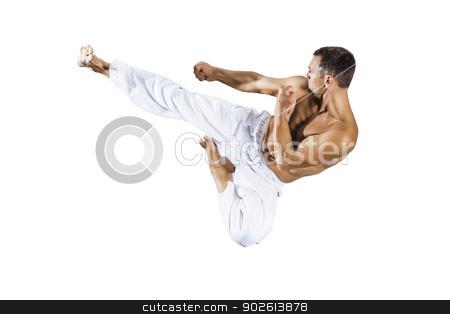taekwondo martial arts master stock photo, An image of a taekwondo martial arts master by Markus Gann