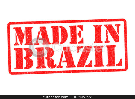 MADE IN BRAZIL stock photo, MADE IN BRAZIL Rubber Stamp over a white background. by Chris Dorney
