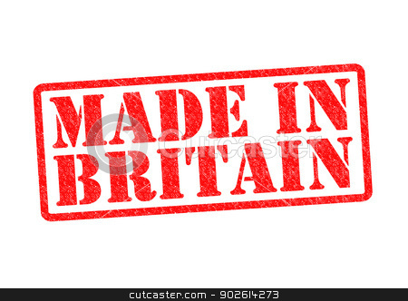 MADE IN BRITAIN stock photo, MADE IN BRITAIN Rubber Stamp over a white background. by Chris Dorney
