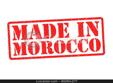MADE IN MOROCCO stock photo, MADE IN MOROCCO Rubber Stamp over a white background. by Chris Dorney