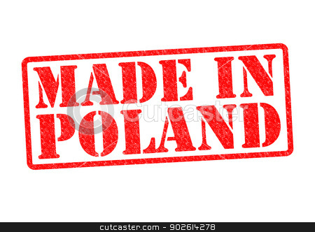 MADE IN POLAND stock photo, MADE IN POLAND Rubber Stamp over a white background. by Chris Dorney