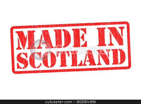 MADE IN SCOTLAND stock photo, MADE IN SCOTLAND Rubber Stamp over a white background. by Chris Dorney