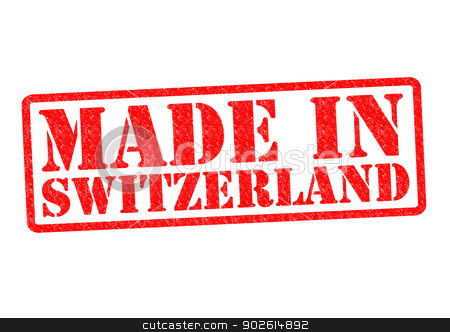 MADE IN SWITZERLAND stock photo, MADE IN SWITZERLAND Rubber Stamp over a white background. by Chris Dorney