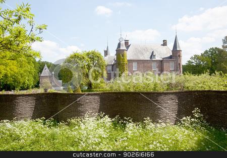 castle of Zuylen in spring stock photo, castle of Zuylen near Utrecht in the Netherlands in spring by anton havelaar