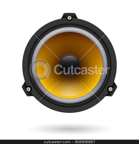 Realistic speaker stock photo, Realistic speaker. Illustration on white background for design by dvarg