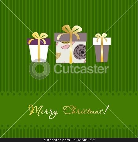 Christmas gift box. Christmas background stock photo, Christmas gift box. Christmas background by Maria Cherevan
