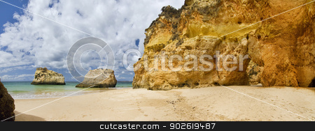 Wonderfull Portuguese beach stock photo, Wonderful view of a beautiful beach in the Prainha area, in the Algarve, Portugal.  by Mauro Rodrigues