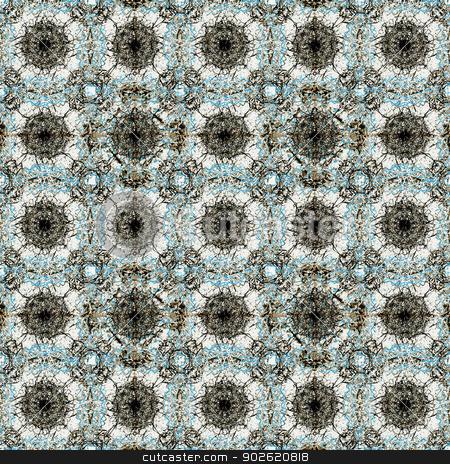 Winter Motif Pattern stock photo, Digital background pattern in cold tones. by Daniel