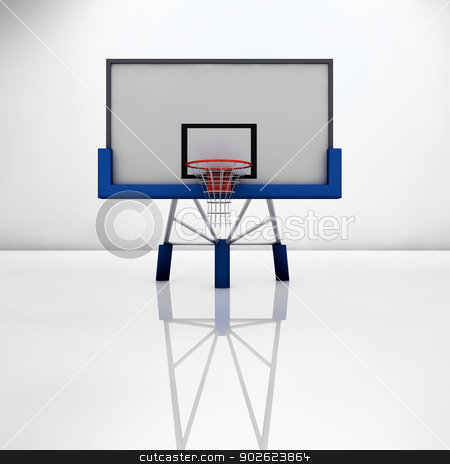 Basketball stock photo, Basketball table on a glossy surface by Pedro Campos