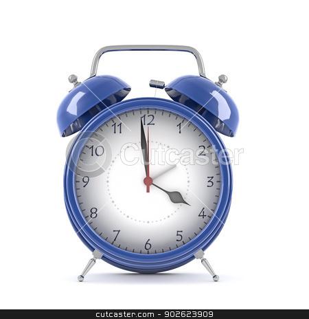 Alarm clock stock photo, Alarm clock isolated on white background by Pedro Campos