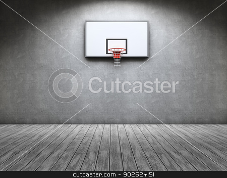 Basketball stock photo, Room with a basketball table on the wall by Pedro Campos