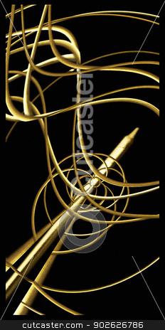 Elegant Abstract Decorative stock photo, Elegant Abstract Decorative Design in gold and black tones. by Daniel
