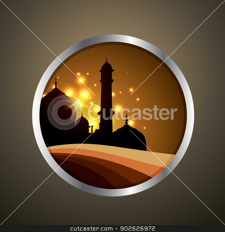 vector ramadan label stock vector clipart, vector islamic label design illustration by pinnacleanimates