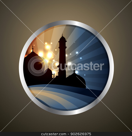 islamic label stock vector clipart, vector illustration of islamic label by pinnacleanimates