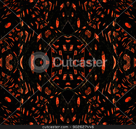 Dark Grunge Geometric Pattern stock photo, Dark Grunge Geometric Pattern in red and black colors. by Daniel