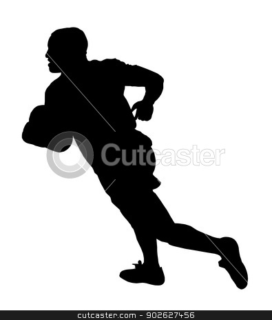 Rugby Speedster Running stock vector clipart, Sport Silhouette - Rugby Speedster Running by Snap2Art