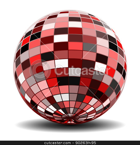 Abstract sphere stock photo, Red Abstract sphere by Jupe