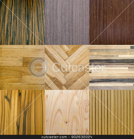 collection of wooden materials for interiors stock photo, collection of wooden materials for interiors by Sarka