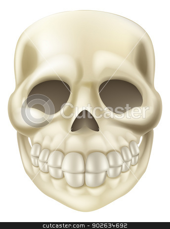 Cartoon Halloween Scull stock vector clipart, An illustration of a cute smiling cartoon Halloween Scull by Christos Georghiou