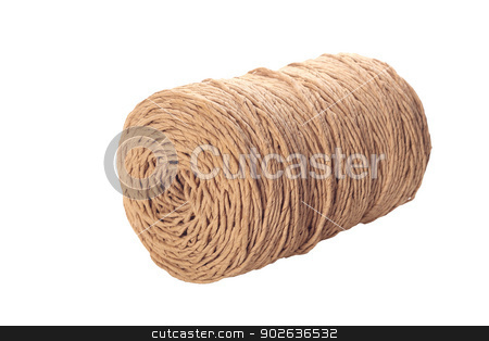 Rope coil  stock photo, Rope coil isolated over white background by Yulia Chupina