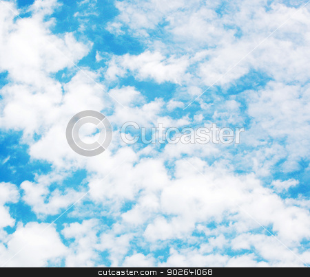 clouds in the blue sky stock photo, clouds in the blue sky by Nenov Brothers Images