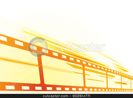 Film background stock vector clipart, Abstract bright background with cinema film by Oxygen64