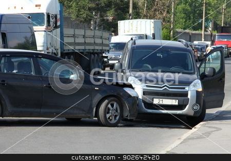 crash  stock photo, crash when leaving the opposite lane by mrivserg