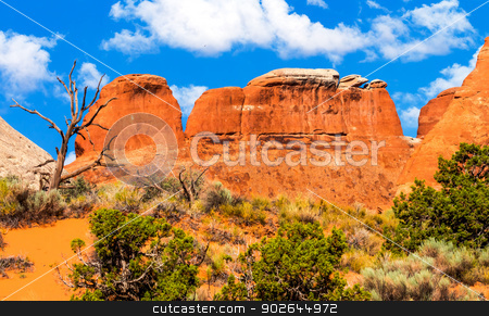Rock Canyon Devils Garden Arches National Park Moab Utah  stock photo, Rock Canyon Devils Garden Arches National Park Moab Utah USA Southwest.  by William Perry