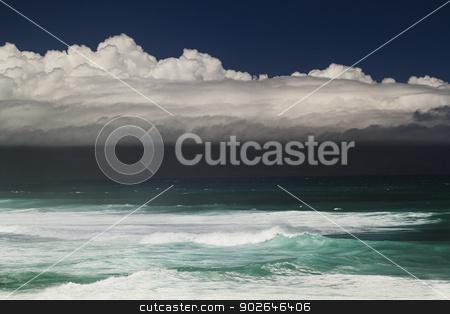 Ocean storm stock photo, Storm cloud over the Pacific ocean in Maui by Yann Poirier