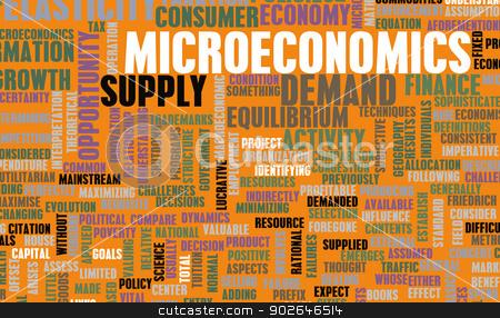 Microeconomics stock photo, Microeconomics or Micro Economics as a Concept by Kheng Ho Toh