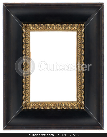 Black frame stock photo, Black wooden frame for paintings or photographs. by Homydesign