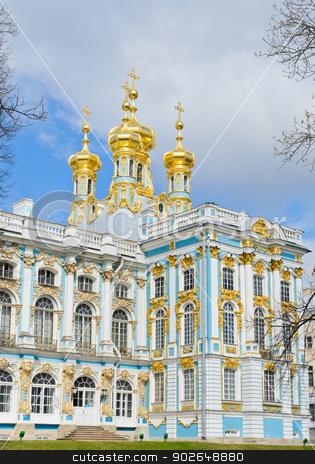 Catherine Palace stock photo, Part of Catherine Palace at Tsarskoye Selo (Pushkin), Russia  by boonsom