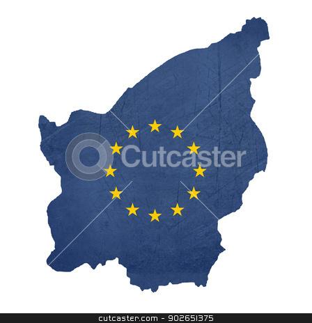 European flag map of San Marino stock photo, European flag map of San Marino isolated on white background. by Martin Crowdy