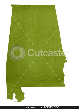 State of Alabama stock photo, American state of Alabama isolated on white background with clipping path. by Martin Crowdy