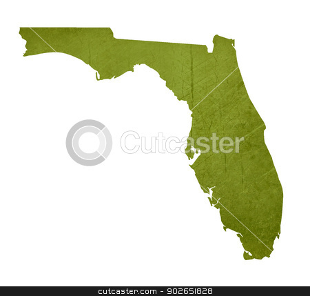 State of Florida stock photo, American state of Florida isolated on white background with clipping path. by Martin Crowdy
