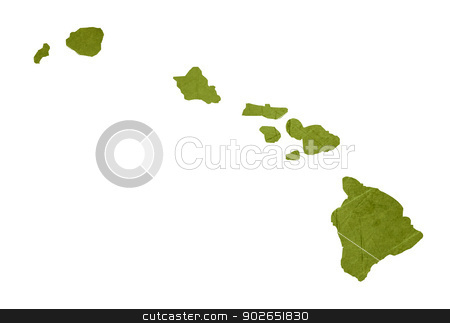 State of Hawaii stock photo, American state of Hawaii isolated on white background with clipping path. by Martin Crowdy