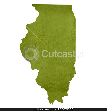 State of Illinois stock photo, American state of Illinois isolated on white background with clipping path. by Martin Crowdy