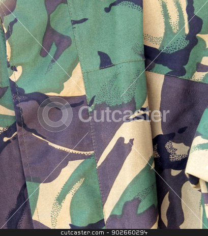 Abstract khaki background stock photo, Abstract background of military khaki uniform. by Martin Crowdy