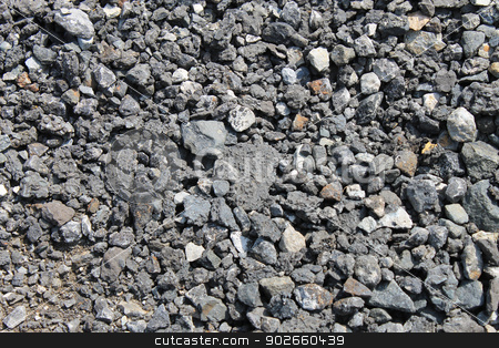 Coal background stock photo, Abstract background of crushed black coal. by Martin Crowdy