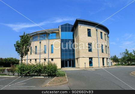 Empty modern office building stock photo, Exterior of empty modern office building. by Martin Crowdy