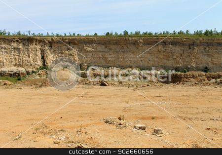 Quarry stock photo, Sceniv view inside old abandoned quarry. by Martin Crowdy