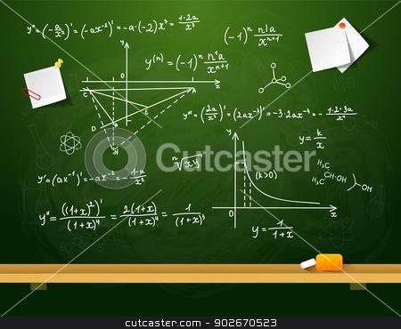 Green school board stock vector clipart, Vector illustration of Green school board by SonneOn