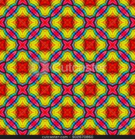 Rainbow Colors Abstract Pattern stock photo, Multicolored abstract pattern design useful for backgrounds,textil, textures etc. by Daniel