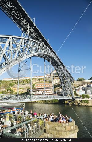 dom luis bridge porto portugal stock photo, dom luis bridge in porto portugal by travelphotography