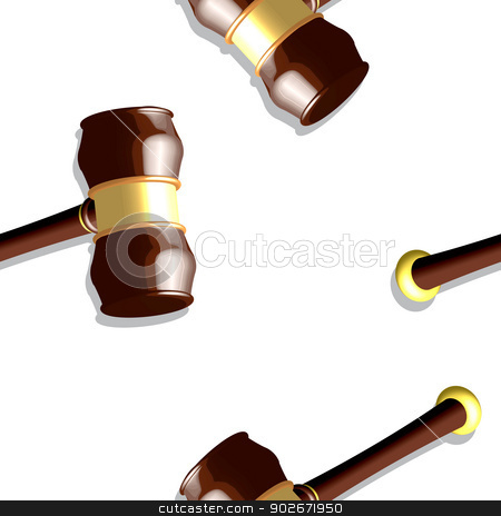 wooden gavel pattern stock vector clipart, wooden gavel pattern, seamless texture against white background; abstract vector art illustration by Laschon Robert Paul
