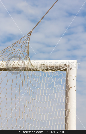 Back side  Goal stock photo, Back side the Goal at the soccer field by stoonn
