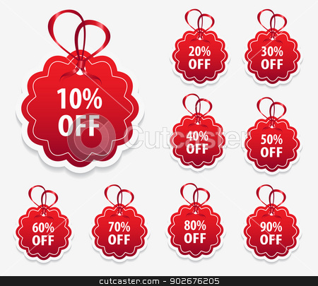 Round Price Tag Label stock vector clipart, This image is a vector file representing a collection of round price tag labels. by Bagiuiani Kostas