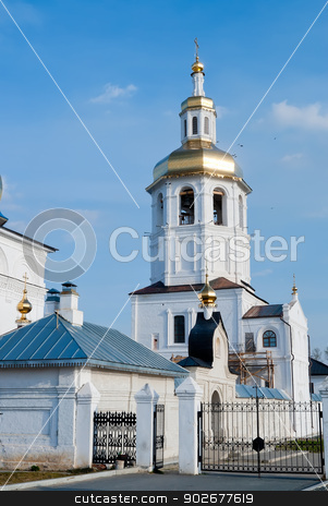Abalak Znamenski monastery. Russia stock photo, Egypt Saint Maria church of Abalak Znamenski Monastery. Situated in the village 20km from Tobolsk. Siberia. Russia by Aikon