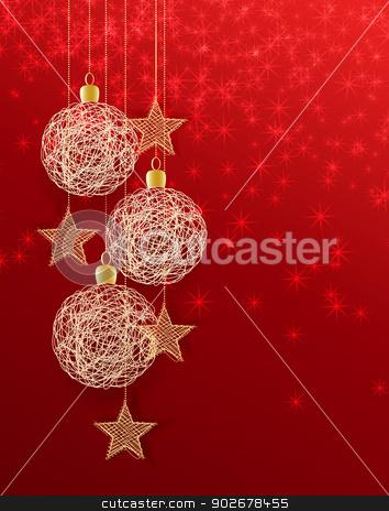 christmas balls stock vector clipart, Vector christmas background with decorated christmas balls by Miroslava Hlavacova