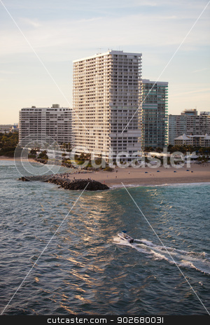 High End Condominium and Apartment Buildings in Fort Lauderdale stock photo, High End Condominium and Apartment Buildings at the Beach in Fort Lauderdale by Scott Griessel